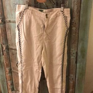 Women pants, loose fit, very soft, cotton & silk